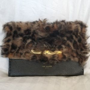 🍒NWT🍒 TED BAKER FAUX FUR LEATHER CROSSBODY